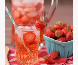 clear, skin, and strawberry image