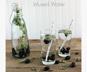 blackberry, water, and clear skin image