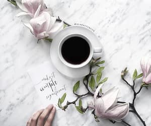 blooms, coffee, and magnolia image