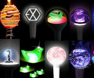 exo, kpop, and lightsticks image