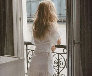 balcony, girl, and vintage image