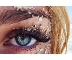 eyes, girl, and sand image