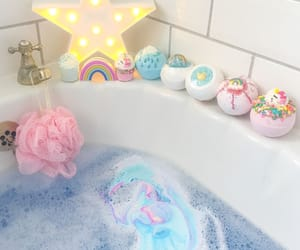 bath, star, and blue image