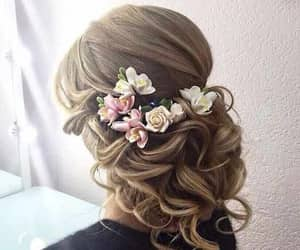 weddinghairstyles, engagementhairstyles, and hairstylesforengagement image