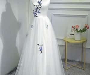 ivory prom dress image
