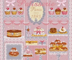 cross stitch and patisserie image