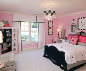 bedroom, girl, and pink room image