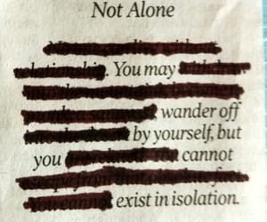 blackout, isolation, and poetry image