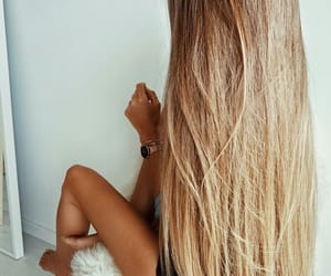 blonde, hair, and long hair image