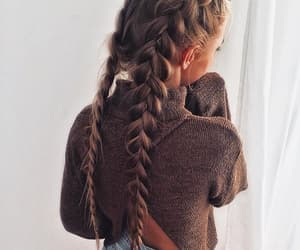 braids, hair, and long hair image