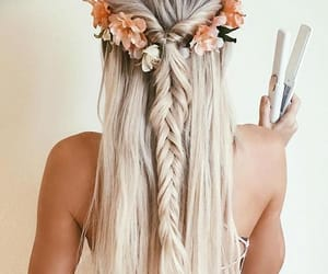 blonde, styled, and braids image