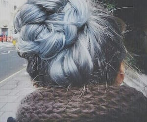 braids, hair, and light blue image