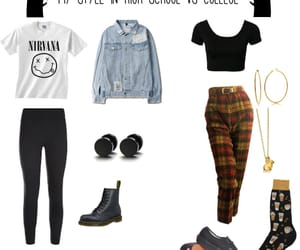 black, indie, and outfit image