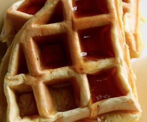 food, sweet, and waffles image