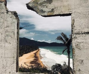 beach, wallpaper, and island vibes image