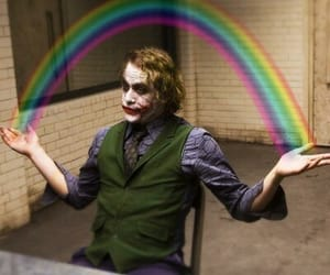 joker, rainbow, and batman image