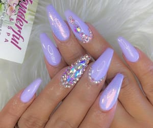 girl, nails, and rhinestones image