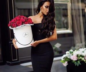 girl, rose, and fashion image