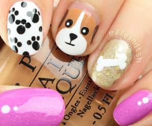 nails, dog, and nail art image