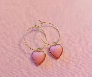 earrings, heart shape, and kawaii image