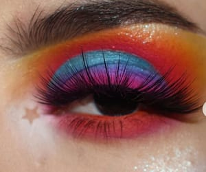 colorful makeup, colors, and eyes image