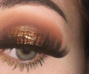 bronze, eyeshadow, and lashes image
