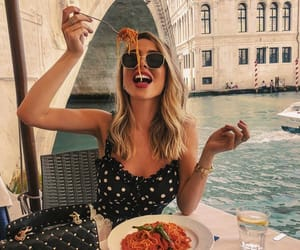 babe, beauty, and food image