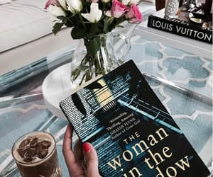 books, coffee, and flowers image