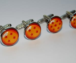 gamer cufflinks jewelry, dragonball cufflinks, and dragonball jewelry image