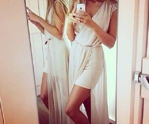 dress, white dress, and elegance image