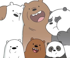 wallpaper, bear, and cartoon image