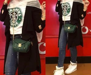 starbucks tee with hijab image