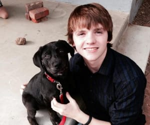 dog, joel courtney, and the kissing booth image