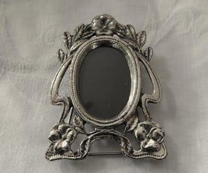 etsy, silver frame, and vintage vanity image