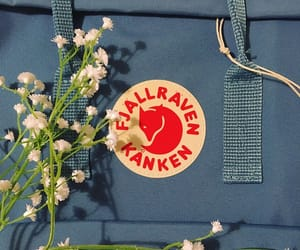 aesthetic, fjallraven kanken, and flowers image