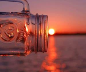 beach, jar, and summer image