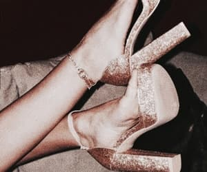fashion, shoe, and rose image