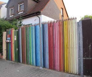 fence, funny, and pencil image