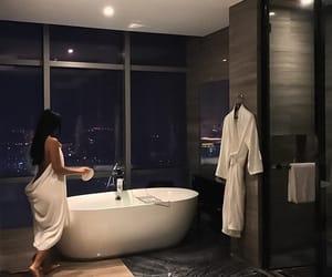 girl, luxury, and bathroom image