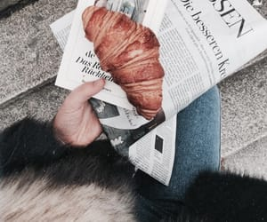 breakfast, croissant, and fashion image