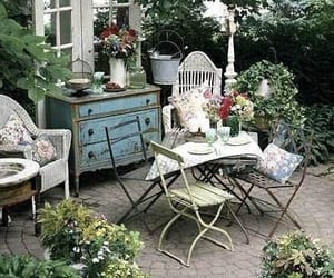 garden and vintage image