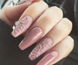 nails, pink, and roses image