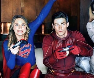 Supergirl, the flash, and barry allen image