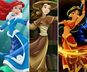 ariel, art, and belle image