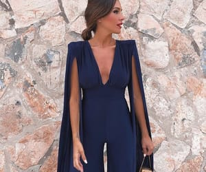 fashion, jumpsuit, and navy image