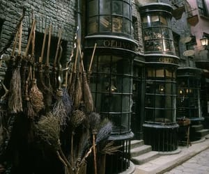 harry potter, broom, and dark image