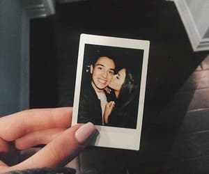 couple, love, and polaroid image