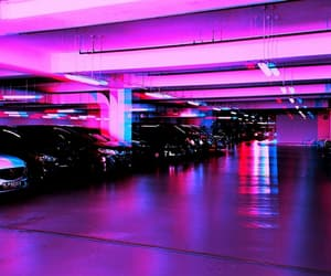 aesthetic, purple, and car park image