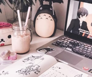 desktop, macbook, and totoro image