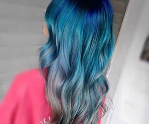 blue, blue hair, and dip dye image